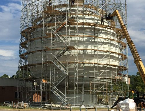 Round Sphere Tank scaffold