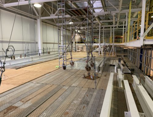 New Mezzanine in Industrial Plant scaffold