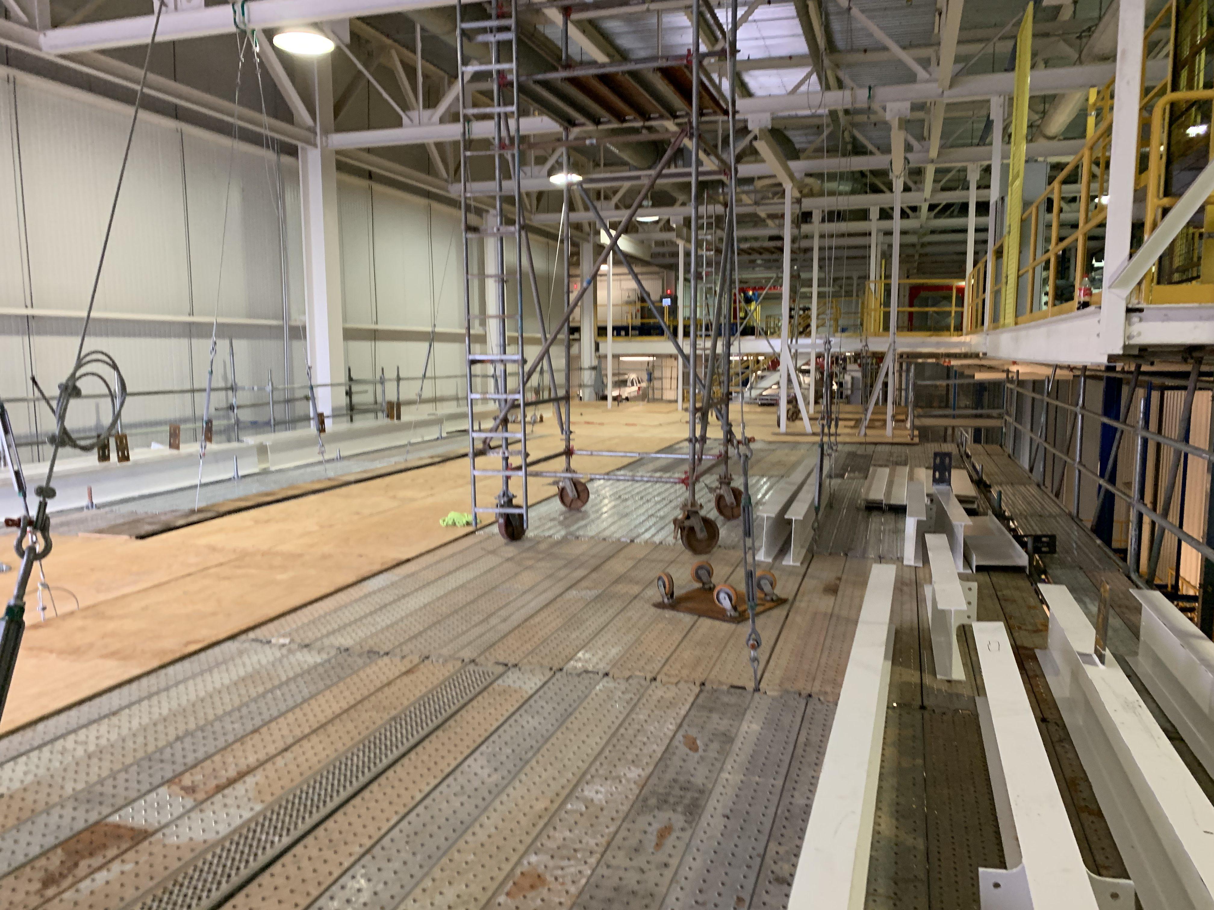 New Mezzanine in Industrial Plant scaffold