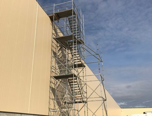 Automotive Industrial Plant Stair Tower