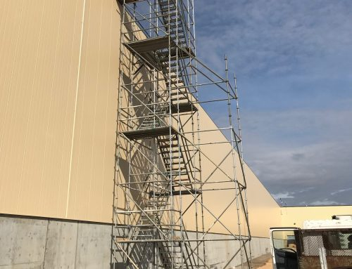 Automotive Industrial Plant Scaffold Stair Tower