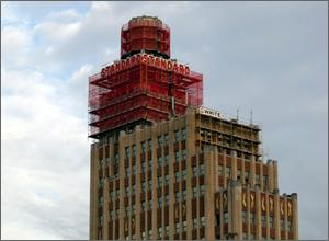 Standard Life Building scaffold