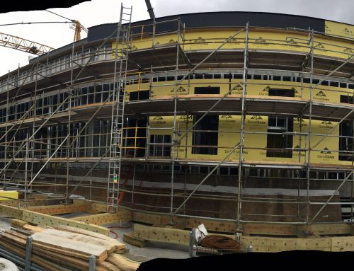 Children's Hospital addition scaffold