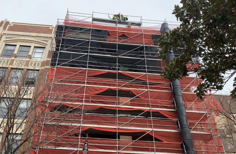 Ferguson Building scaffold